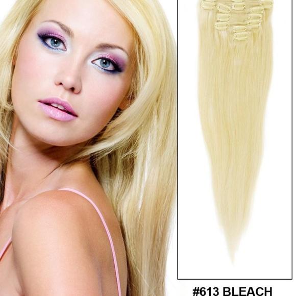 Accessories Straight Hair Extensions 26 613 Bleach Blonde Poshmark